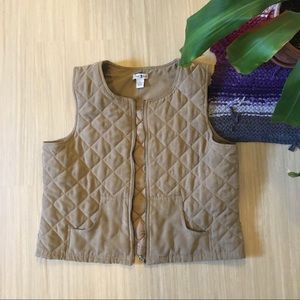 Duck Head Quilted XL Tan Vest